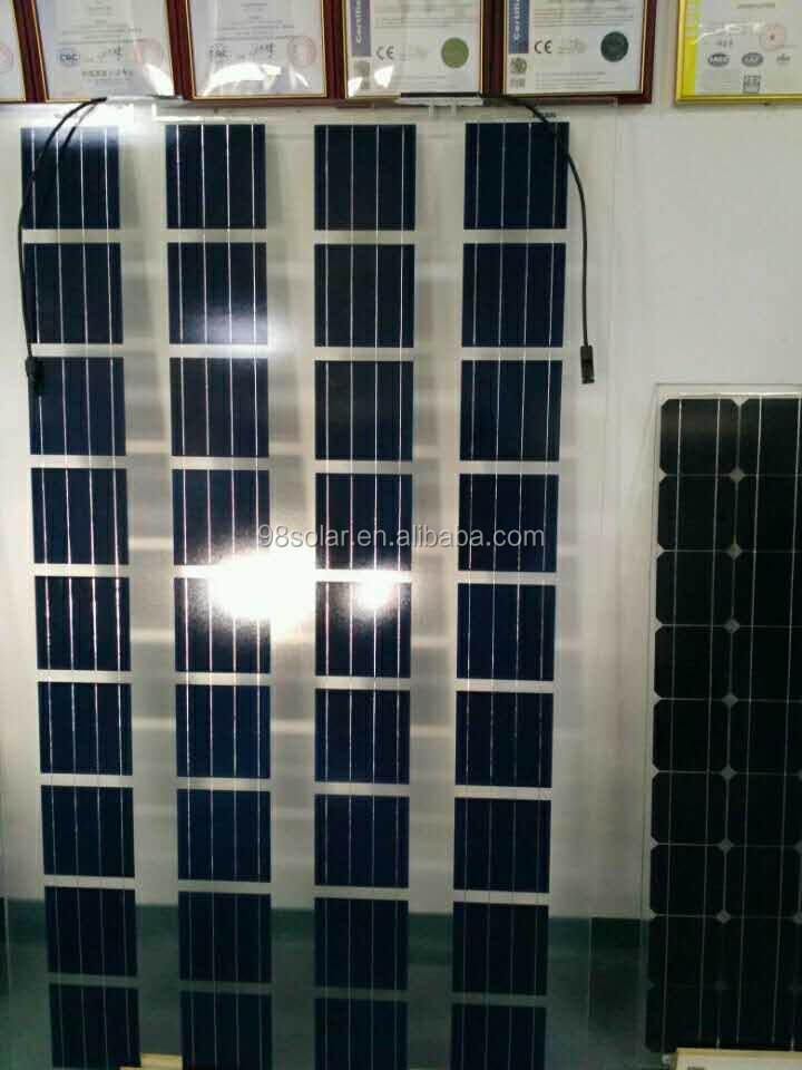Frameless solar panel transparent for greenhouse glass panels/balcony glass panels/BIPV mono cells 150w-170w
