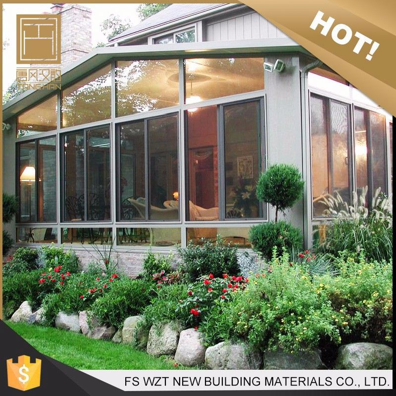 Factory wholesale resistant aluminum green house winter glass sunroom