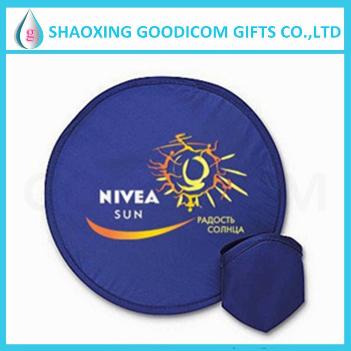 Flying pisc with pouch frisbee nylon foldable hand fans