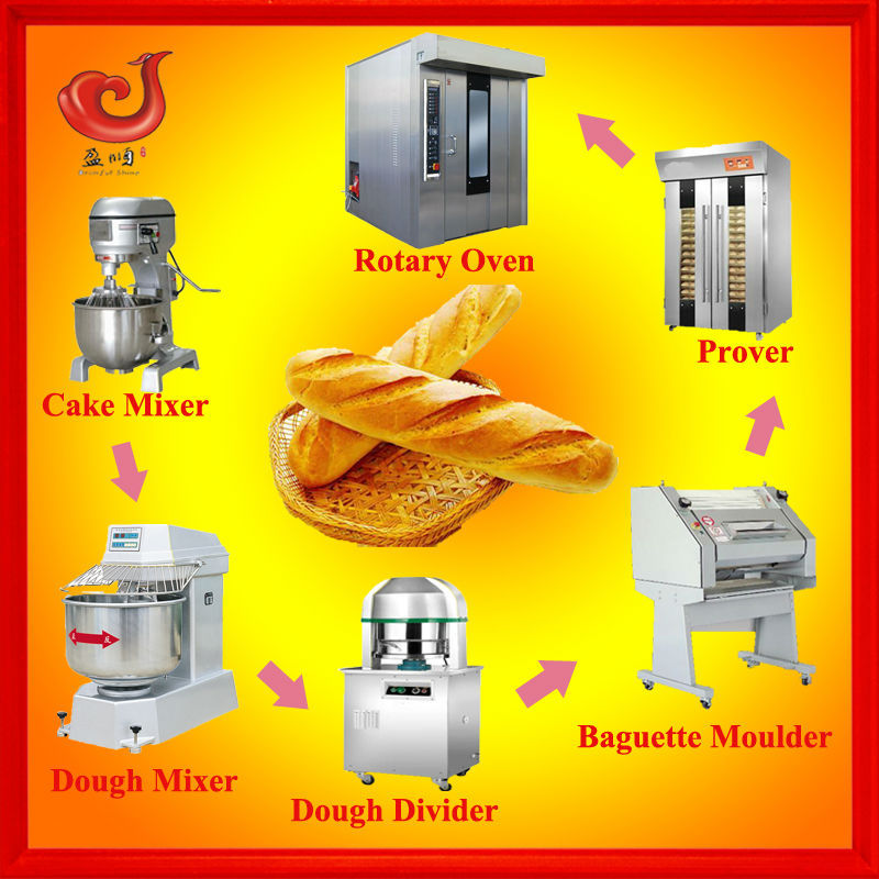 french bread production line/complete automatic bakery equipment