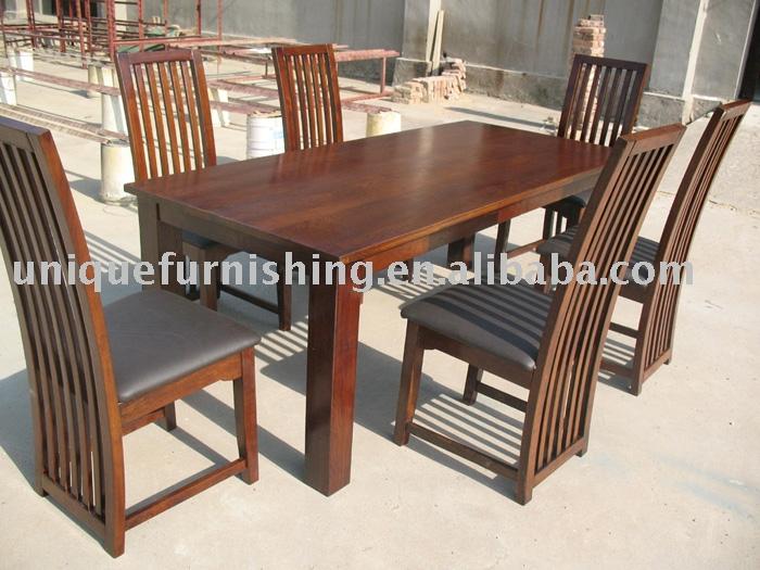 UCF0025 moderno comedor de madera de roble muebles-Mesas ...