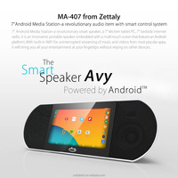 Zettaly AVY 407 Bluetooth 4.0 Speaker 7 inch Touch Screen Smart Sound Box Android 4.4 Quad Core 1GB 8GB 0.3MP Camera WiFi