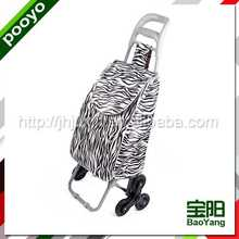 folding shopping cart with seat multi-function folded shopping trolley