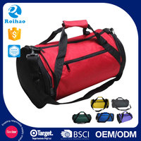 Roihao factory wholesale 600D flexible travel round sports duffel bag
