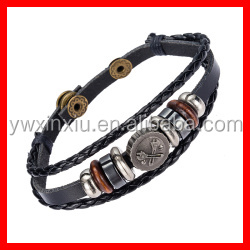 Vintage Tool Charm Bracelet Adjust Size Costume Leather Design Men's Fashionable Jewelry