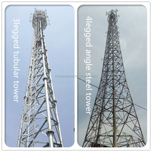 Galvanized angle steel lattice tubular tower telecom mobile cellular antenna communication tower