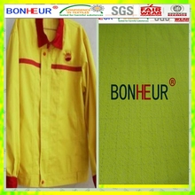 fluorescent yellow antistatic cotton fabric for gas station uniforms