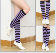 Women Ladies Striped Knee Socks Cotton Pantyhose School girls Sports Stocking