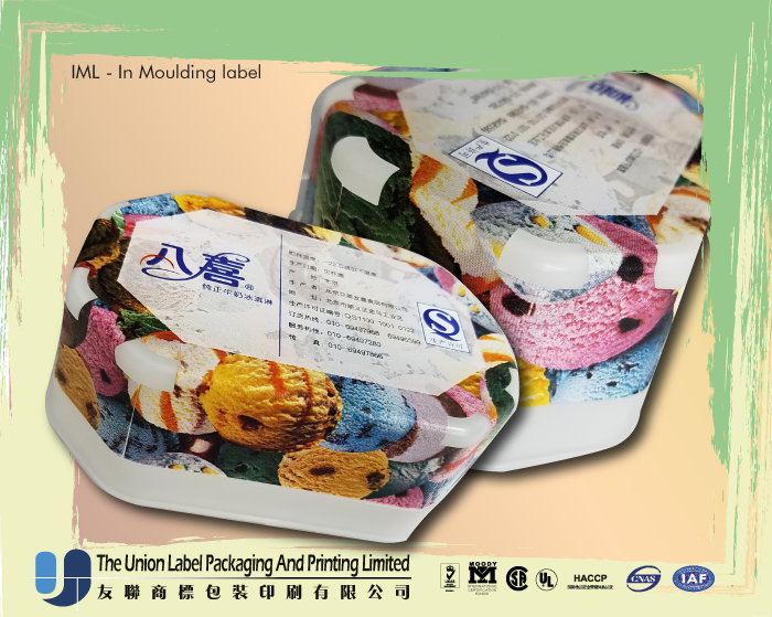 SAVE COST Good peel resistance IML mold label for LDPE container Resins