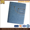 2017 hot sell fashion denim design leather tablet pc case