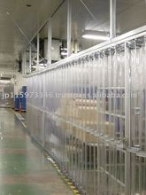PVC curtain with reinforcement