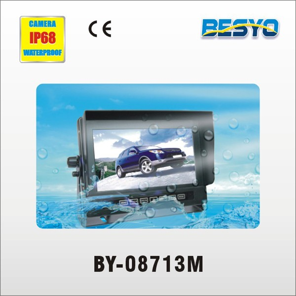 Vehicle 7 inch waterproof monitor with camera system BY-08713M