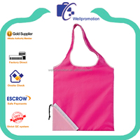wellpromotion promotional fashion cheap nylon foldable shopping bag