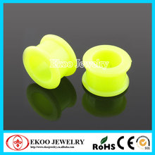Glow in the Dark Silicone Flexible Ear Tunnel Piercing Jewelry