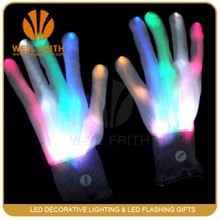 Factory make up led gloves led finger light gloves flashing gloves wholesalers