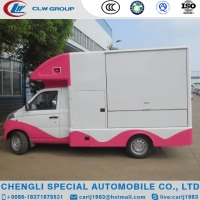 China new stainless steel mini truck food van mobile ice cream truck