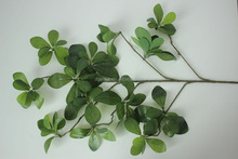 China indoor/outdoor fake leaf branch NEW design artificial mistletoe leaf brach