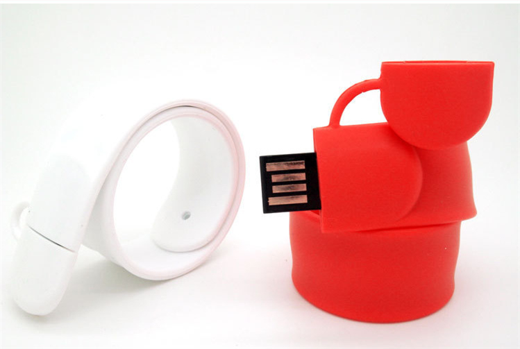 Paypal acceptable amazon top selling silicone U disk bracelet memory stick usb flash drive