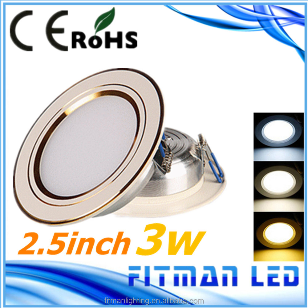 popular style 2.5inch smd5730 recessed led <strong>downlight</strong>, color tempreture change 3w led <strong>downlight</strong>