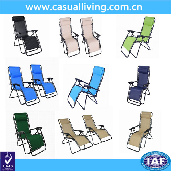 Folding Zero Gravity Reclining Chair with Canopy Shade and Cup Tray