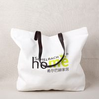 Top quality stylish blue tote canvas shopping bag