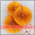 DIY Party Decor Orange paper fan backdrop paper rosette Kids Birthday party decor