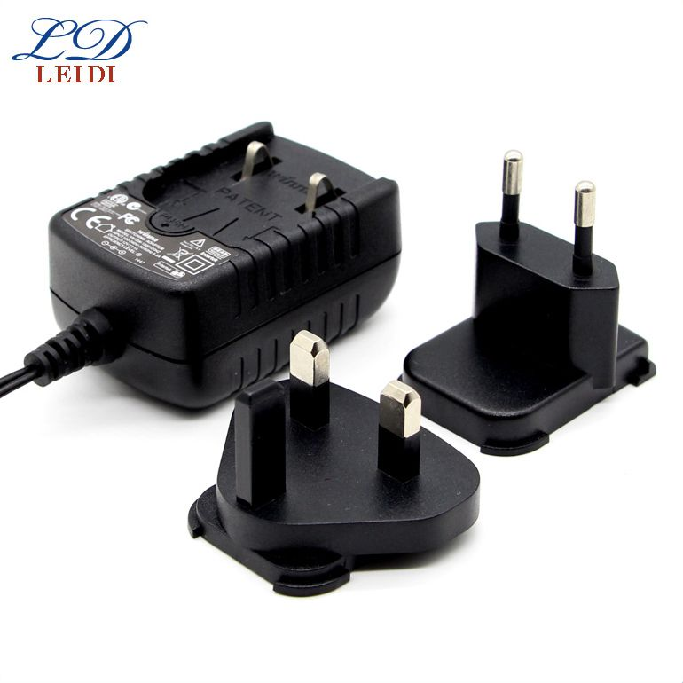 Power Supply Detachable Plug Power Adapter 9V 10V 12V 3A Interchangeable Plug Power universal travel charger adapter