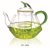 pyrex clear glass teapot tea set,fire resistant glass teapot,glass teapot to boil wate