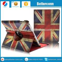 UK USA National Flag 360 Degree Rotating Case Cover w Swivel Stand for iPad 2 3 4