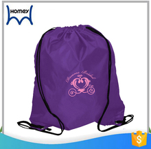 Low price simple soft cloth travel tote waterproof backpack polyester drawstring bag