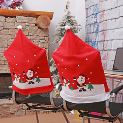 DMTC041 Christmas Hats Shape Design Chair Cover For Decorationg Christmas Day Party Christmas Item