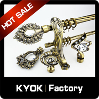 KYOK Fancy shower curtain rod, wrought iron curtain bracket, accessories curtain