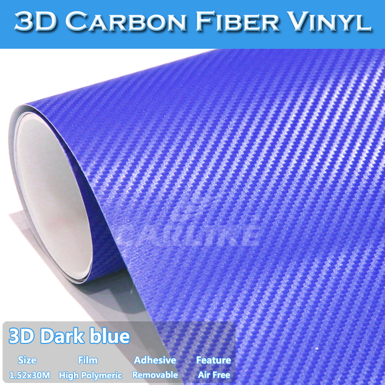 Interior Car Decoration 1.52x30m 5x98ft 3D Carbon Fiber Car Wrap Vinyl