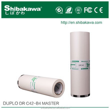 Duplo duplicator compatible ink and master rolls for B4 paper