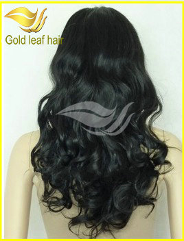Can be colored high quality virgin hair natural looking african american wigs