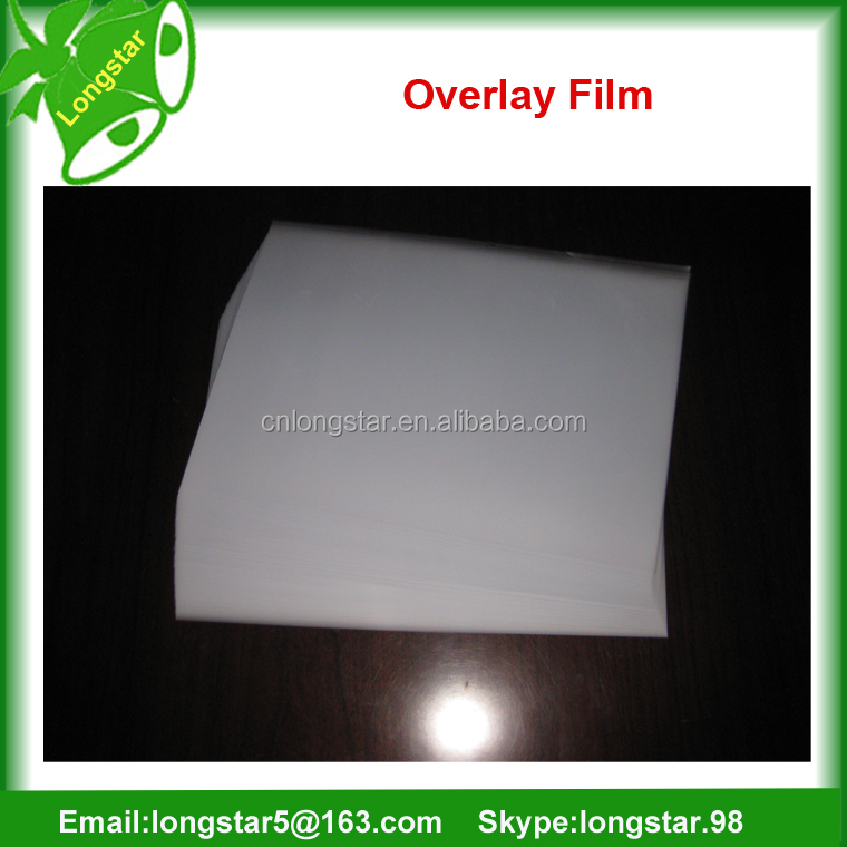 A4 PVC coated overlay film for lamination and inkjet printing