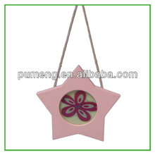 Popular hanging star-shaped photo frame for birthday gift or Sales promotion