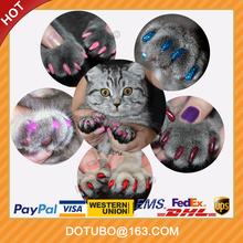 2017 new glitter soft cat and dog nail caps with free glue oem brand accept