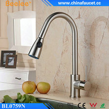 Beelee Pull Down Spray Kitchen Faucet Single Handle Brass Kitchen Sink Water Mixer Tap