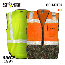 Wholesale 100% polyester mesh two tone hi vis reflective safety hunting vest