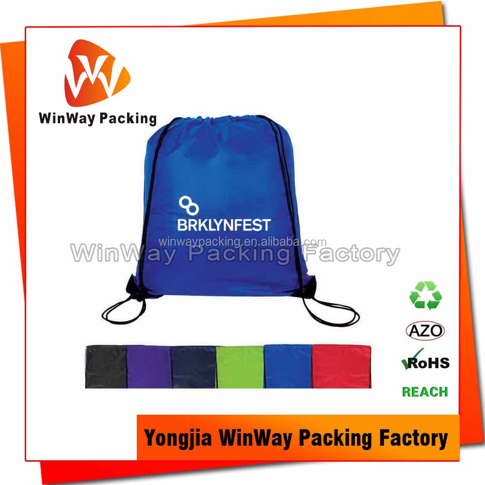 China Manufacturer Cheap Polyester Drawstring Bag for <strong>Promotional</strong>