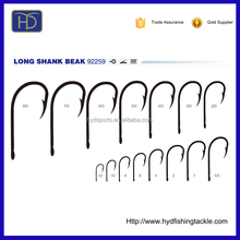 High Quality 92259 High Carbon Steel Long Shank Beak Fish Hooks