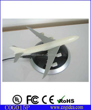 Funny magnetic floating plastic airplane model , levitating ABS aircraft for gift