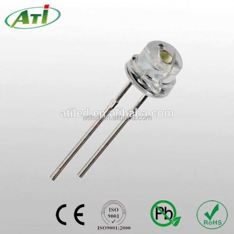 5mm strawhat led high quality bicolor flat top led 3mm