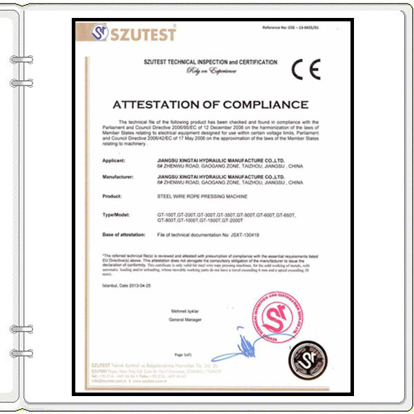 Funky Wire Rope Inspection Certificate For Composition - Electrical ...