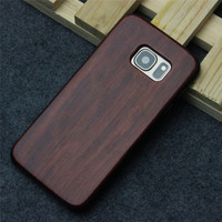 2016 New Design Mobile Mobile Accessories Blank Wooden Phone Case For Samsung s7 and s7 Edge