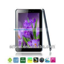 ZX-MD7032 7inch MTK8389 quad core1G+8G 1024*600 pixels 0.3M + 5.0M camera 3d movies tablet pc