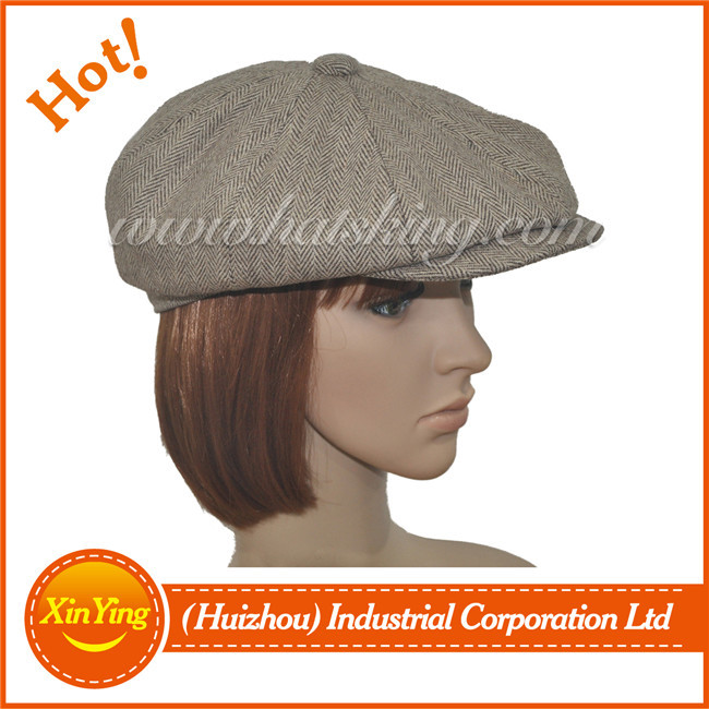 New mens women tweed cheap newsboy hat