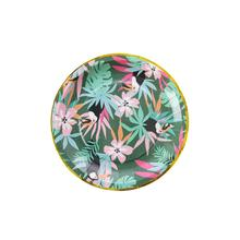 Wholesale Tropical Summer Boho Party Decoration Disposable Custom Round Paper <strong>Plates</strong>