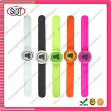 silicone slap on watches for men and women,exchangeable watch strap